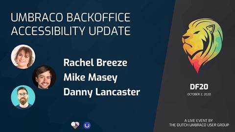Umbraco Backoffice Accessibility Update
